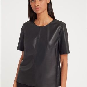 Cuyana Leather Tee Top currently online